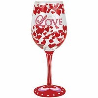 A Touch of Glass Love 15 oz. Wine Glass