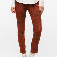 Dittos Dawn Skinny Jean - Orange Animal Print