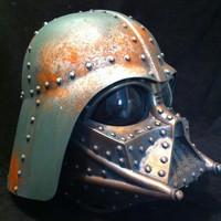 Steampunk  DARTH VADER Helmet Bronze Bashed Star wars  Life Size Cosplay