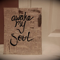 Awake My Soul -Mumford and Sons lyric painting