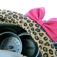 Cheetah Steering Wheel Cover with Matching Bright by BeauFleurs