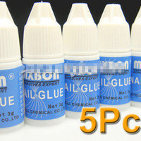 5pcs professional design NAIL GLUE French Art Acrylic False Tip new arrival