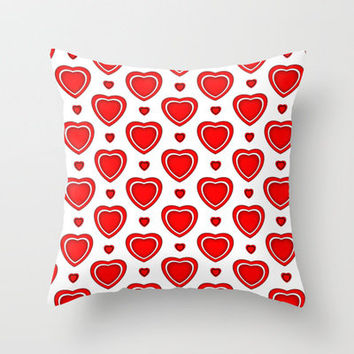 Valentine in White Throw Pillow by Alice Gosling | Society6