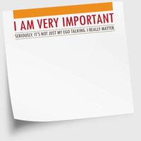 Sticky Notes Notepad for Home or Office I Am Very by NeatThings