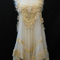 Custom Made Pretty Ivory Lace with White Chiffon by Madabby
