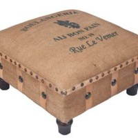 One Kings Lane - Furniture & Rugs - Jute Stool, Boulangerie