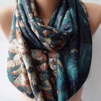Sweater Scarf - Infinity Circle Scarf - Loop Scarf, Eternity Scarf