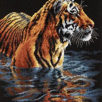 Dimensions Needlecrafts Counted Cross Stitch, Tiger Chilling Out