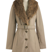 Taupe of the Morning Coat | Mod Retro Vintage Coats | ModCloth.com
