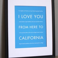 California Art Print, 8x10 on Luulla