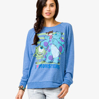 """I Love Monsters"" Distressed Pullover 