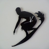 Surfer Clock choose your own colour by ikandi11 on Etsy