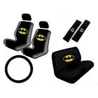 New Design 11 Pieces Batman Classic Logo Car Seat Covers Set Includes Front and Rear Seat Cover, St