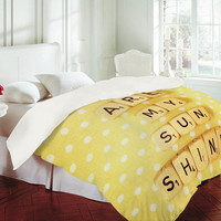 DENY Designs Home Accessories | Happee Monkee You Are My Sunshine Duvet Cover