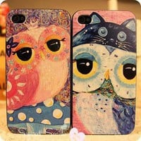 Unique Lovely Big Owl Case for iPhone 4/4s from 1Point99.com
