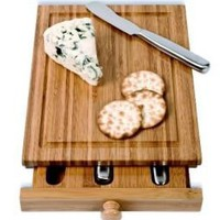 Bamboo Cheese Tools Case and Cutting Board