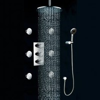 Wall Mount Thermostatic Shower Faucet with BodySprays I-005-5 - $442.39