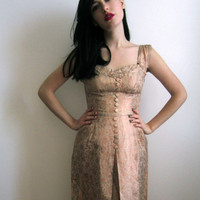 1950&#x27;s Evening Dress Pink Champagne by tomorrowisforever on Etsy