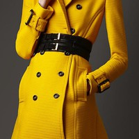 LONDON Gorse Yellow Westland Trench Coat