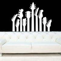 Guitar Necks - Vinyl Wall Art Decal