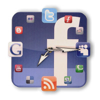 Facebook Icon Wall Clock Fans by walldecoration on Etsy
