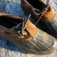 UniSex vintage DUCK shoes, Size: Mens 7, Womens 9,  Thinsulate lining, Leather trim and tongue