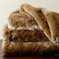 Faux Fur Throw - Butterscotch