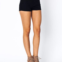 high-waisted-denim-shorts BLACK BLUE GREY INDIGO - GoJane.com