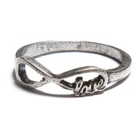 Silver Infinity Love Ring