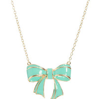 Epoxy Bow Pendant Necklace | Shop Accessories at Wet Seal