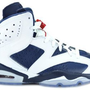 Amazon.com: Air Jordan 6 VI Retro &quot;Olympic&quot; Men&#x27;s Basketball Shoes White/Midnight Navy/Varsity Red: Shoes