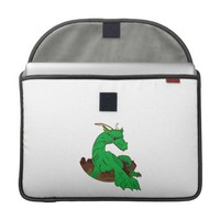 Foreshortened green dragon.png sleeves for MacBooks from Zazzle.com