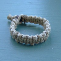 Thick Hemp Bracelet  Guys  Mens  Hemp Jewelry by KnottyandNiceHemp
