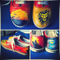 The Lion King Vans by ThoseInFavor on Etsy