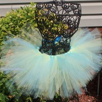 Caribbean Tutu-- 0-5T   Yellow and Aqua--Birthday, Wedding, Photos,......