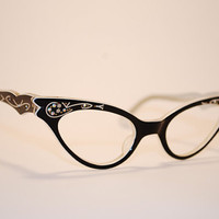 Vintage 1950s Cat Eye Glasses by miiiintz on Etsy