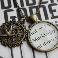 Hunger Games &#x27;Mockingjay&#x27; Double Pendant by PrettyLittleCharmsUK