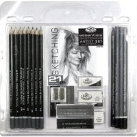 Amazon.com: Royal & Langnickel Essentials Sketching Pencil Set, 21-Piece: Arts, Crafts & Sewing