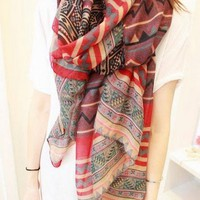Stylish Luxurious Charmeuse Silk Scarf #3 - Multi Color Avaliable from 1Point99.com