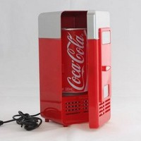 USB Mini Fridge Beverage Heating Cooling Table Desk Food Cold Cooler