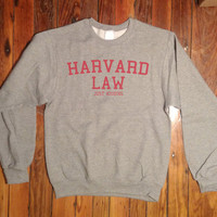 Harvard Law Just Kidding Crewneck Sweatshirt Clothing Sweater For Unisex Style