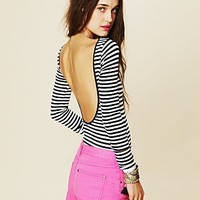 Intimately Womens Striped Low Back Top -