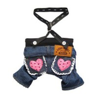 Stylish Dog Jeans Dog Pants Denim Dog Overalls Cute Dog Jumpsuit Pet Clothes