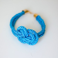 Turquoise  Nautical Knot  Rope Bracelet by pardes on Etsy