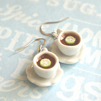 lemon tea earrings