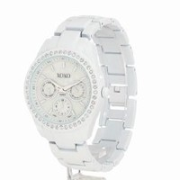 XOXO Women's XO114 Rhinestone Accent White Enamel Bracelet Watch: Watches: Amazon.com