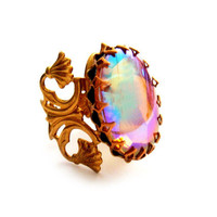 The Marie Antoinette Ring No 2 Iridecent Vintage Statement Ring