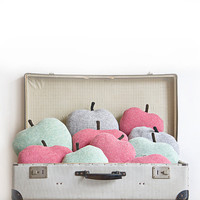 Apple shaped cushion/soft toy - medium size color light grey