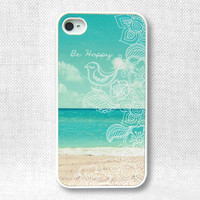 iPhone 4 Case, iPhone Case, iPhone 4S Case - Be Happy Beach  - 115