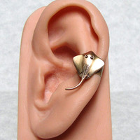 Sting Ray Nautical Ear Cuff